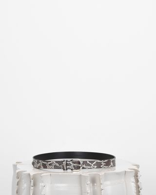 ZAP printed leather belt