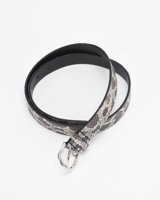 ISABEL MARANT BELT Woman ZAP printed leather belt r