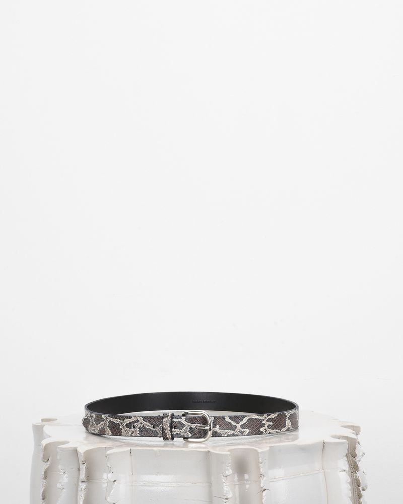 ZAP printed leather belt ISABEL MARANT