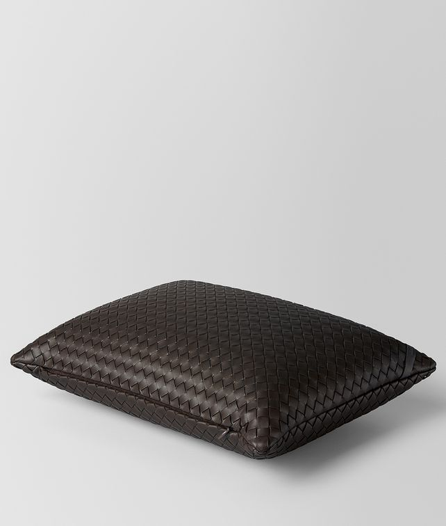 BOTTEGA VENETA ESPRESSO INTRECCIATO NAPPA LEATHER RECTANGULAR PILLOW Pillow E fp