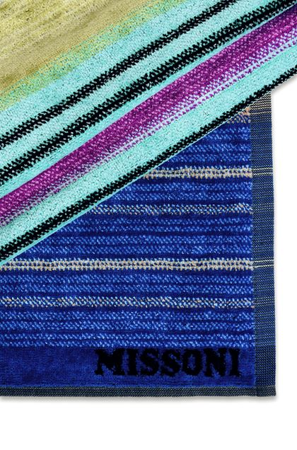 MISSONI HOME VIVIETTE BEACH TOWEL Blue E - Front