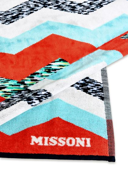 MISSONI HOME VICTOR BEACH TOWEL Light grey E - Front