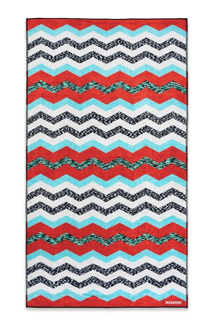 Missoni Home Victor Beach Towel Light Grey E Back