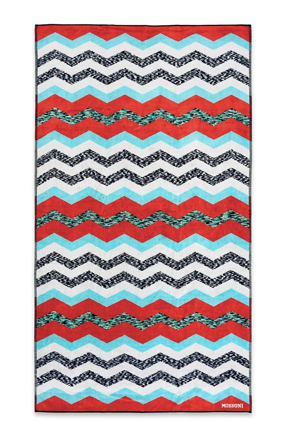 MISSONI HOME VICTOR BEACH TOWEL E, Frontal view
