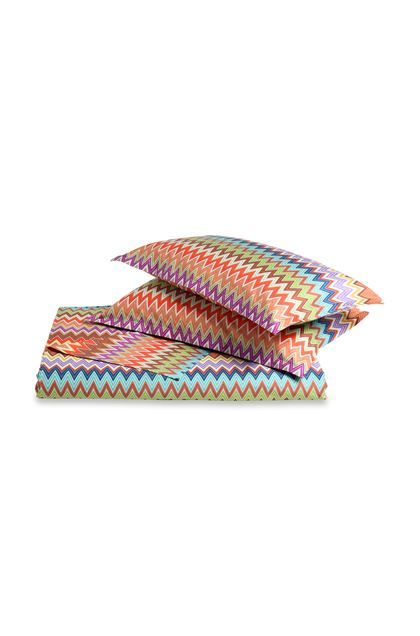 MISSONI HOME VALENTINO SET COPRIPIUMINO Marrone E - Retro