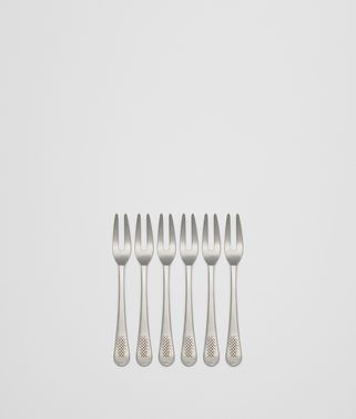 VINTAGE STAINLESS-STEEL ESCARGOT FORK SIX-PIECE SET