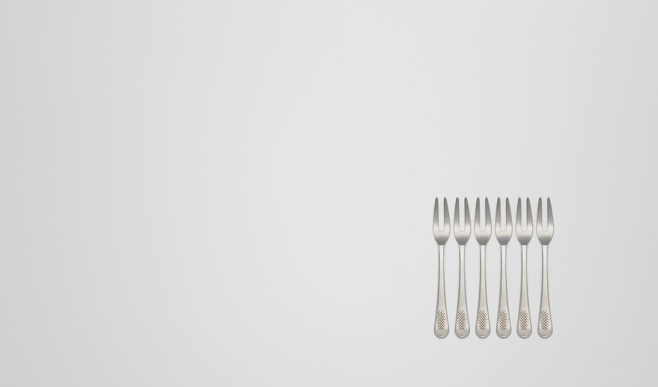 vintage stainless-steel escargot fork six-piece set landing