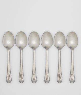 VINTAGE STAINLESS-STEEL DINNER SPOON SIX-PIECE SET