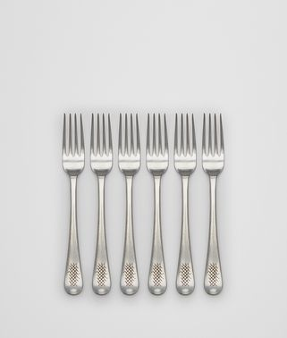 VINTAGE STAINLESS-STEEL DINNER FORK SIX-PIECE SET