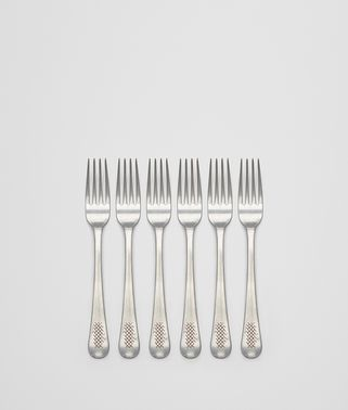 VINTAGE STAINLESS-STEEL DESSERT FORK SIX-PIECE SET
