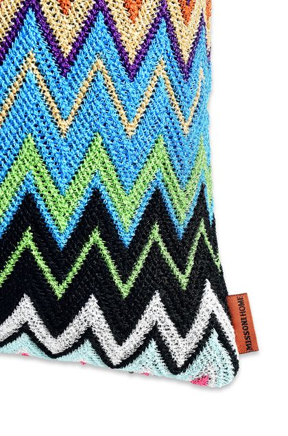 MISSONI HOME VLADIMIRO CUSHION Blue E - Front