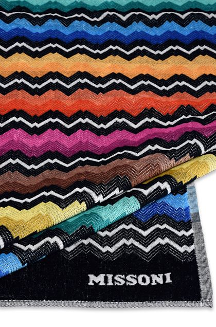 MISSONI HOME VASILIJ BEACH TOWEL Black E - Front