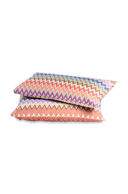 MISSONI HOME VALENTINO PILLOWCASES 2-PIECE SET Brown E - Back