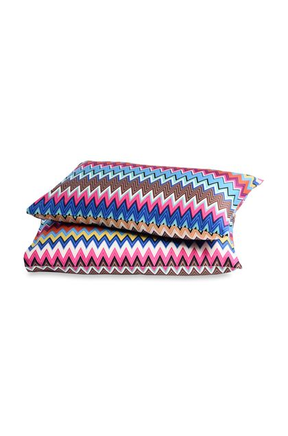 MISSONI HOME VALENTINO PILLOWCASES 2-PIECE SET Azure E - Back
