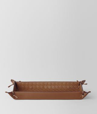 NOCE INTRECCIATO NAPPA LEATHER PEN TRAY