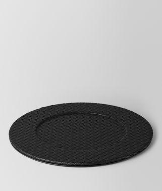 黑色INTRECCIATO编织小羊皮装饰盘