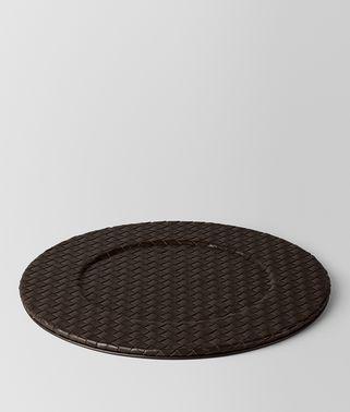 深咖啡色INTRECCIATO编织小羊皮装饰盘