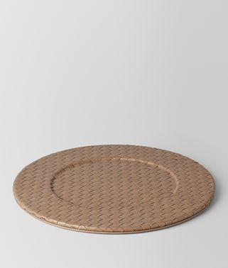 烟灰色INTRECCIATO编织小羊皮装饰盘