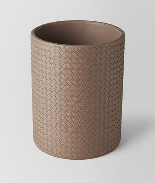 ASH INTRECCIATO NAPPA LEATHER WASTE PAPER BASKET