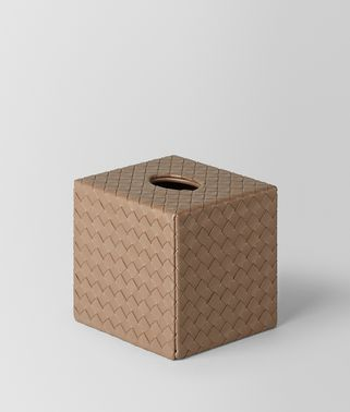 ASH INTRECCIATO NAPPA LEATHER VERTICAL TISSUE BOX