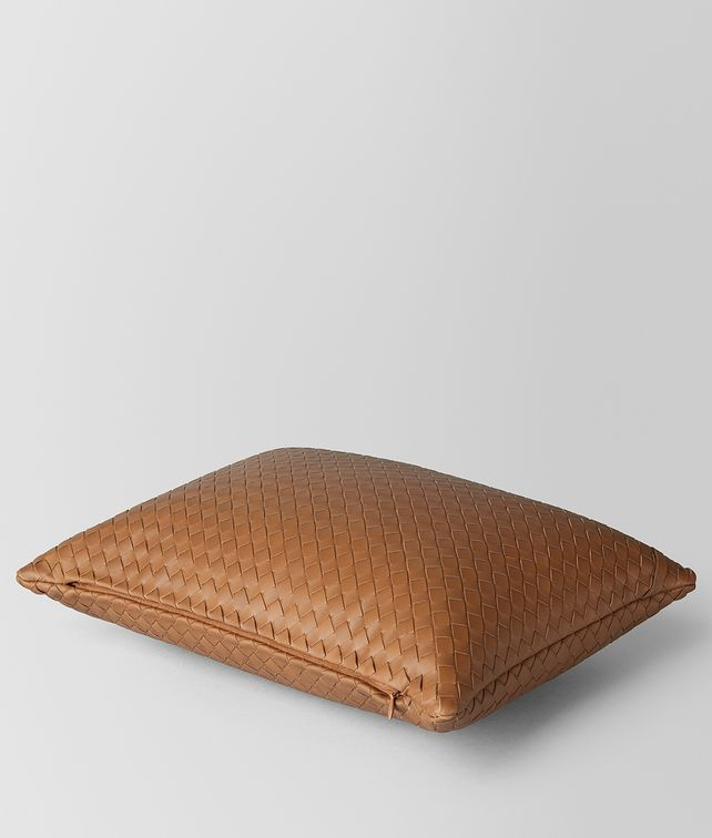 BOTTEGA VENETA NOCE INTRECCIATO NAPPA LEATHER RECTANGULAR PILLOW Pillow E fp