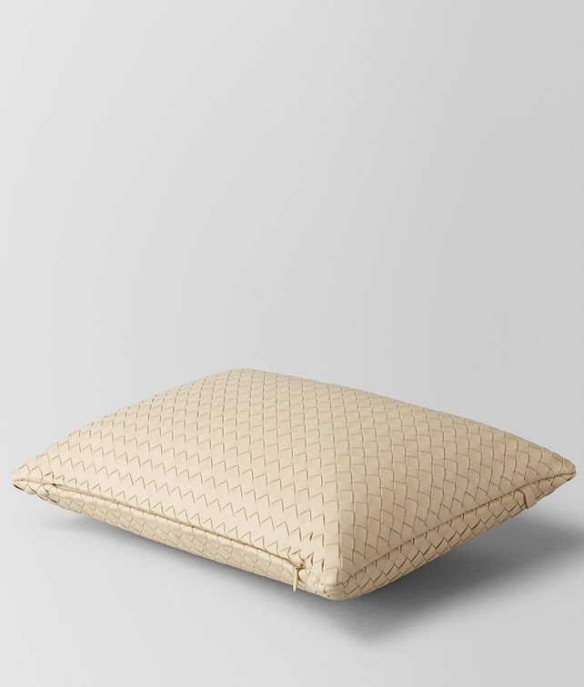 BOTTEGA VENETA PERGAMENA INTRECCIATO NAPPA LEATHER RECTANGULAR PILLOW Pillow E fp