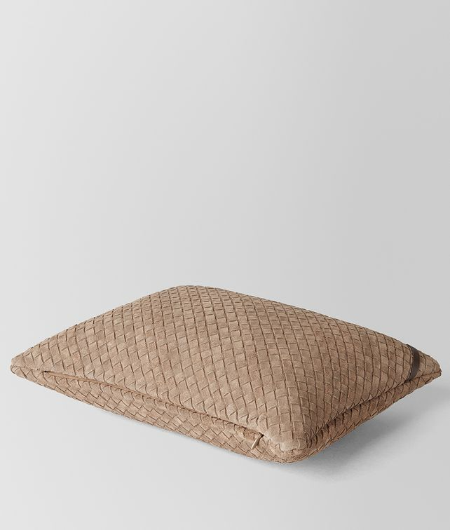BOTTEGA VENETA CIGAR INTRECCIATO SUEDE RECTANGULAR PILLOW Pillow E fp
