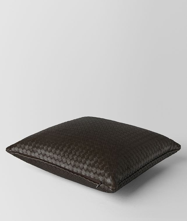 BOTTEGA VENETA ESPRESSO INTRECCIATO NAPPA LEATHER SQUARE PILLOW Pillow E fp