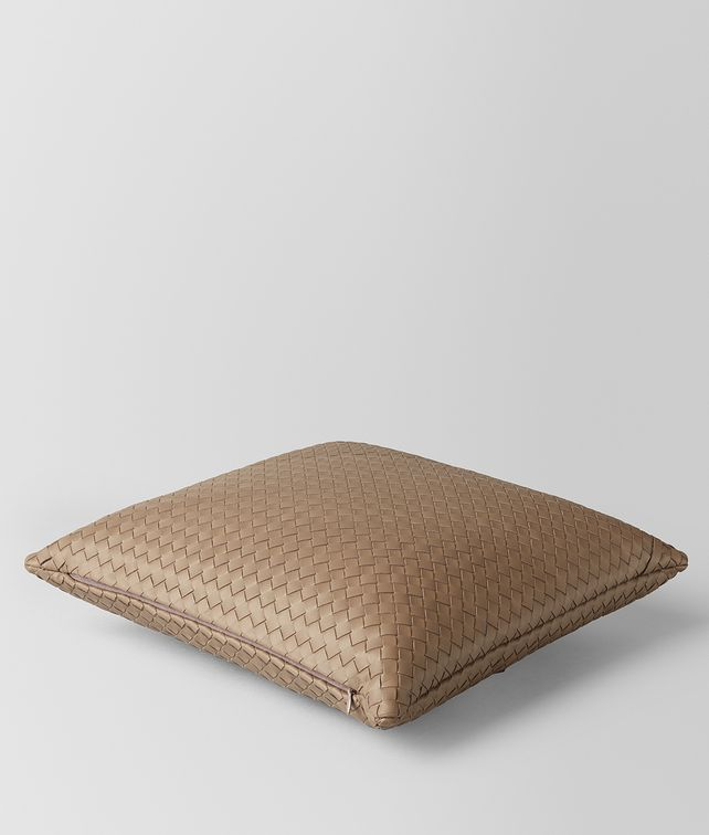 BOTTEGA VENETA ASH INTRECCIATO NAPPA LEATHER SQUARE PILLOW Pillow E fp