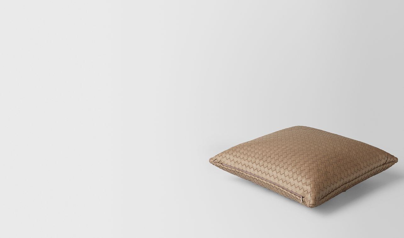 ash intrecciato nappa leather square pillow landing