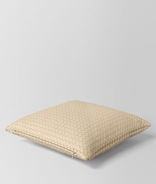 PERGAMENA INTRECCIATO NAPPA LEATHER SQUARE PILLOW