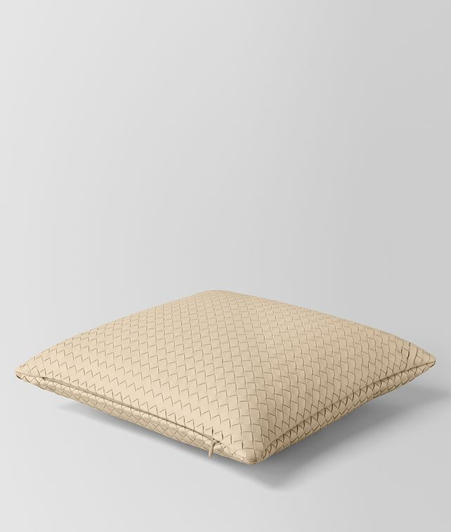 BOTTEGA VENETA PERGAMENA INTRECCIATO NAPPA LEATHER SQUARE PILLOW Pillow E fp
