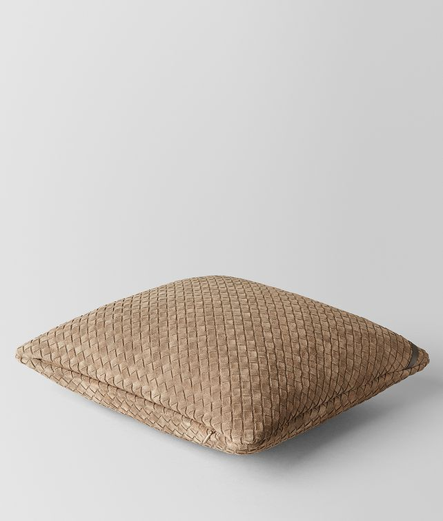 BOTTEGA VENETA CIGAR INTRECCIATO SUEDE SQUARE PILLOW Pillow E fp