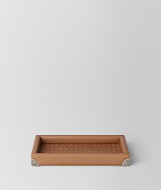 NOCE INTRECCIATO NAPPA LEATHER RECTANGULAR TRAY