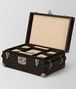 BOTTEGA VENETA ESPRESSO INTRECCIATO NAPPA LEATHER JEWELLERY TRAVEL CASE BOX E fp