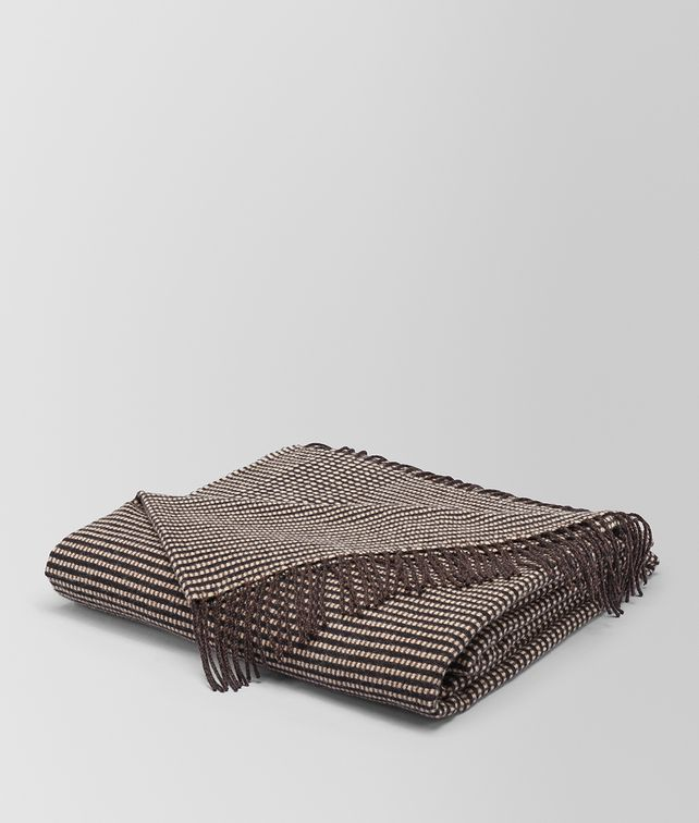 BOTTEGA VENETA ANTHRACITE DARK CASHMERE SOFT CHECK BLANKET BLANKET E fp