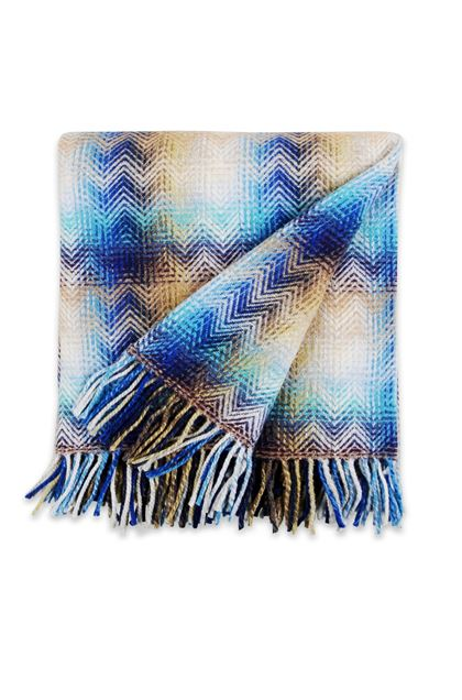MISSONI HOME MONTGOMERY THROW Blue E - Back