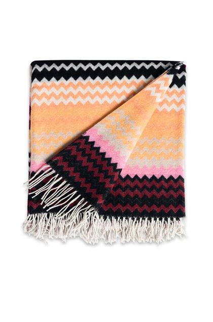 MISSONI HOME HUMBERT THROW Peach E - Back