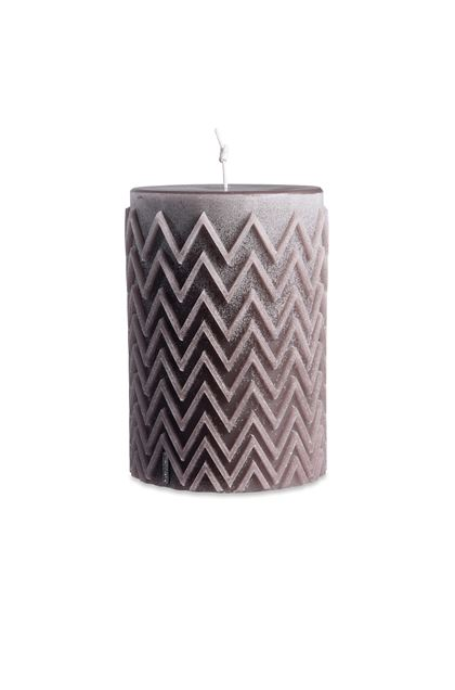 MISSONI HOME CHEVRON CYLINDRICAL CANDLE Khaki E - Back