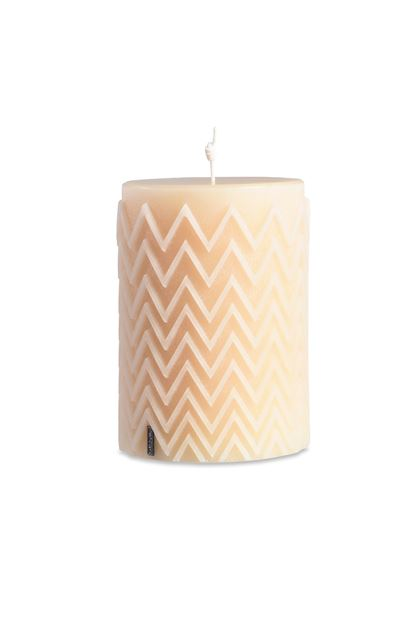 MISSONI HOME CHEVRON CYLINDRICAL CANDLE Ivory E - Back