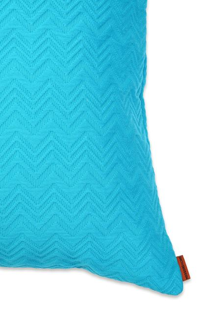 MISSONI HOME GRETEL CUSHION Turquoise E - Front