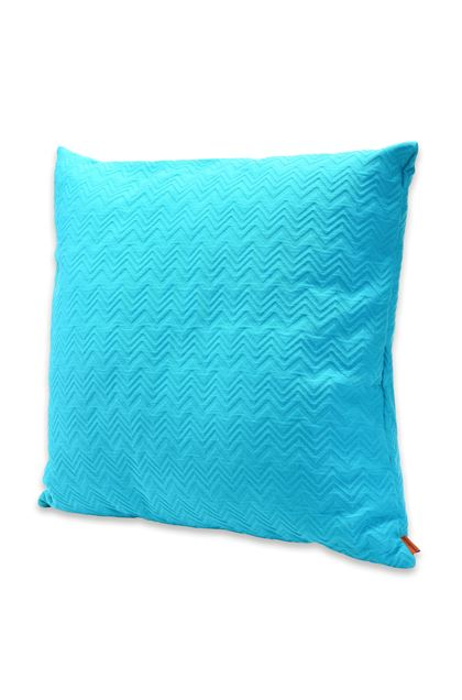 MISSONI HOME GRETEL CUSHION Turquoise E - Back