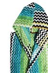 MISSONI HOME STAN HOODED BATHROBE E, Rear view