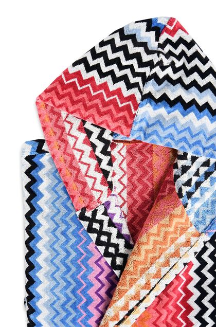 MISSONI HOME БАННЫЙ ХАЛАТ STAN С КАПЮШОНОМ Оранжевый E - Передняя сторона