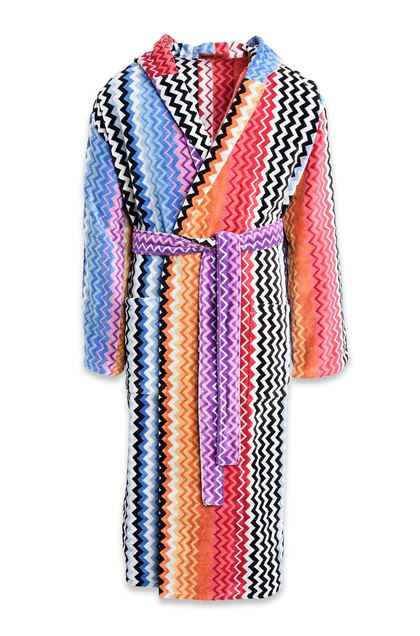MISSONI HOME STAN HOODED BATHROBE Orange E - Back