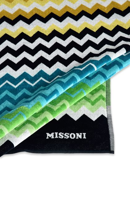 MISSONI HOME STAN BEACH TOWEL Black E - Front