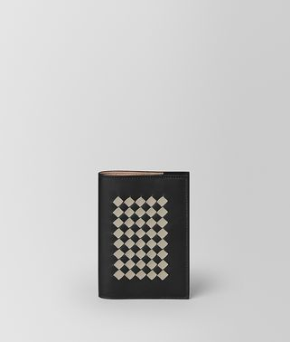 SMALL NOTEBOOK COVER IN INTRECCIATO CHECKER