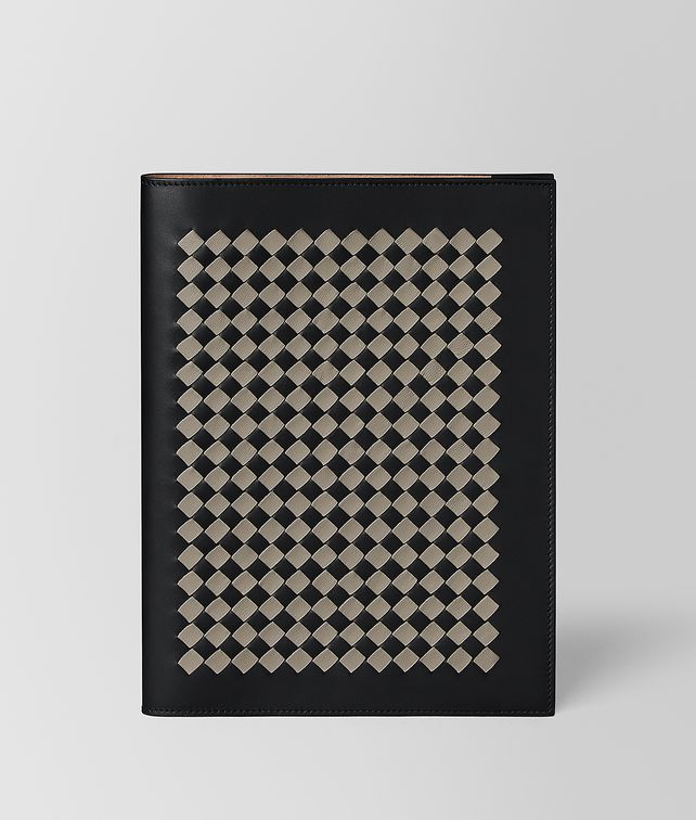 BOTTEGA VENETA LARGE NOTEBOOK COVER IN INTRECCIATO CHEQUER Desk accessory E fp