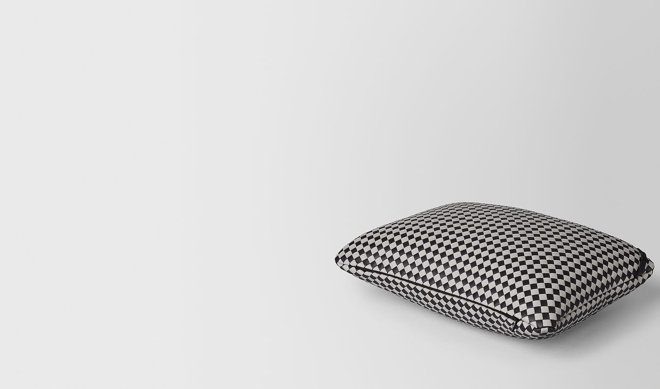 rectangular pillow in intrecciato chequer landing