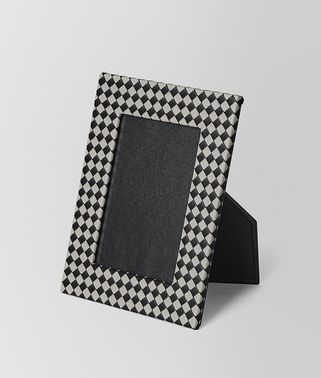 MEDIUM PHOTO FRAME IN INTRECCIATO CHEQUER